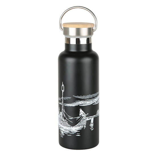 Our Sea Black Stainless Steel Bottle 5dl