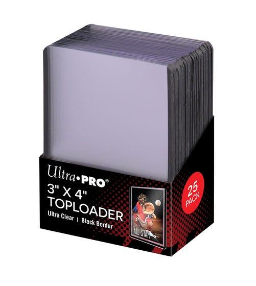 Toploader 3x4'' Black Border 35pt (10)