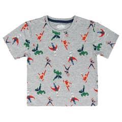Superheroes Grey Premium Kid's T-Shirt (98)