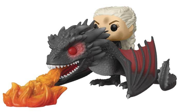 Pop Rides Game of Thrones Daenerys On Fiery Drogon Vin Fig