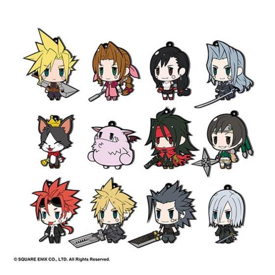 Final Fantasy VII Trading Rubber Strap Ext Edition 12pc Bmb Ds