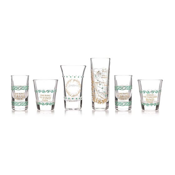 Lord of the Rings Mini Glasses Set of 6