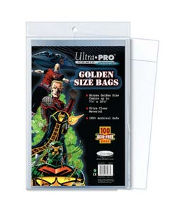 Golden Size Comic Bags (100)