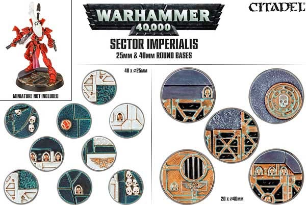 Sector Imperialis: Round bases 40x25 mm