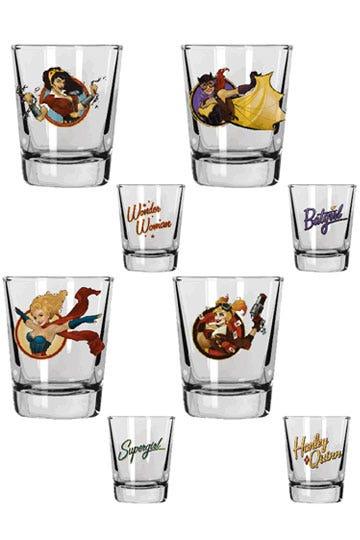 DC Comics Bombshells Set of 4 Shot Glasses