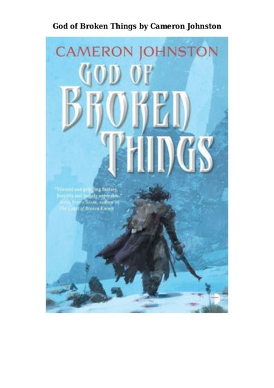 God of Broken Things: The Age of Tyranny Book II