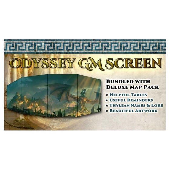 Odyssey of the Dragonlords GM Screen and Map