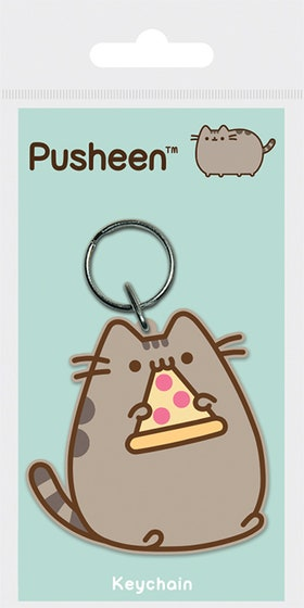 Pizza Rubber Keychain