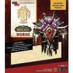 IncrediBuilds: World of Warcraft: Horde 3D Wood Model and Poster