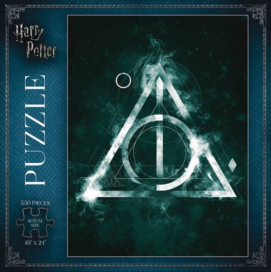 Harry Potter Deathly Hollows 550 Pc Puzzle