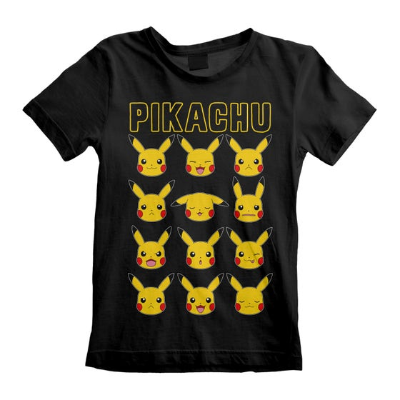 Pikachu Faces Kid's T-Shirt (5-6 Years)