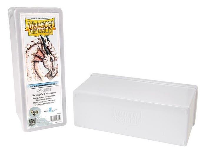 White Dragon Shield Four Compartment Deck Box