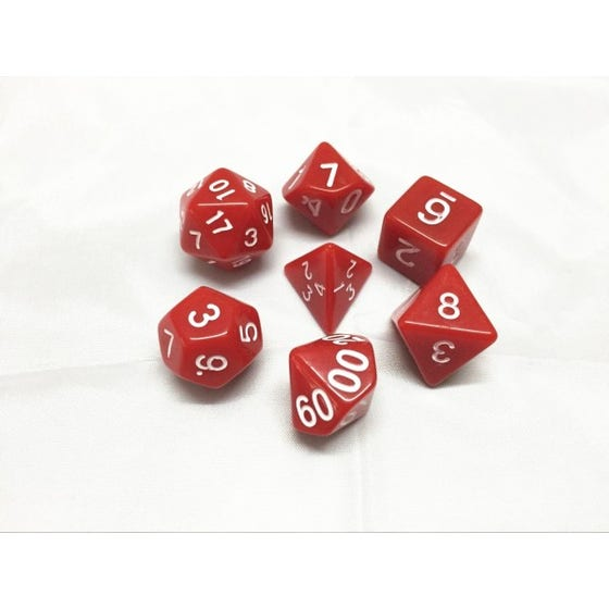 Opaque Poly Red /White (7)