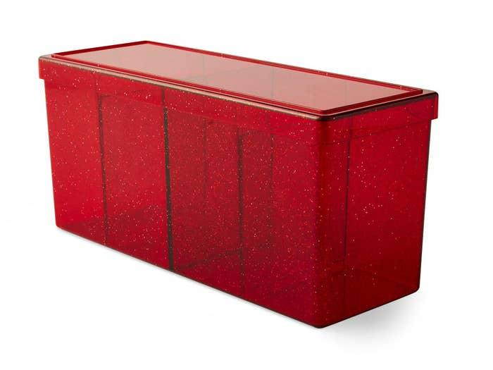 Ruby Dragon Shield Four Compartment Deck Box