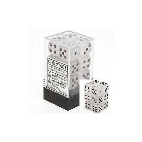Frosted 16mm D6 Clear /Black (12)