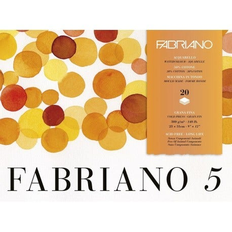 Fabriano 5 Water Color Paper 300g 23x31cm (20 Ark)
