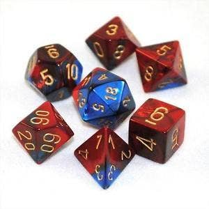 Gemini Poly Blue, Red /Gold (7)