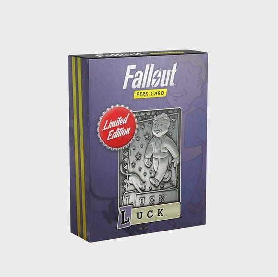 Luck Fallout Limited Edition Perk Card