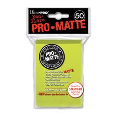 Pro-Matte Bright Yellow/Green Deck Protector Sleeves (50)