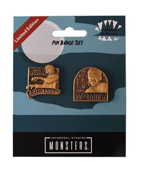 Limited Edition Universal Monsters Pin Badges (2)