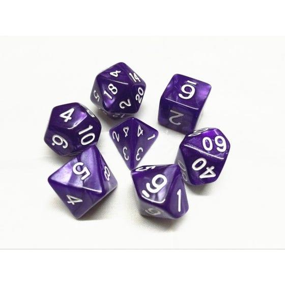 Pearl Poly Purple /White (7)
