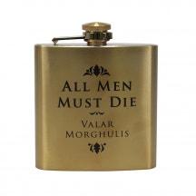 All Men Must Die Hip Flask 7oz