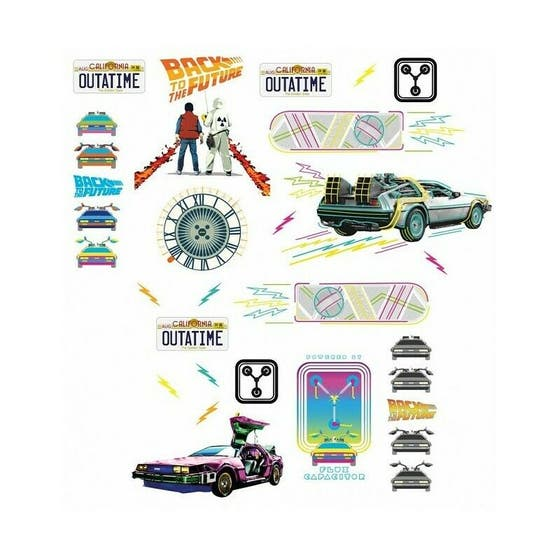 Back to the Future Man Cave Decals