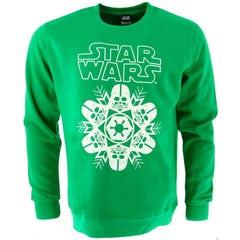 Vader Snowflake Green Chrismas Sweater (L)