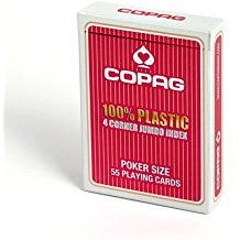 Copag Red Plastic Poker Size Playing Cards