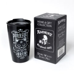 Purrfect Brew Double Walled Travel Mug 360 ml