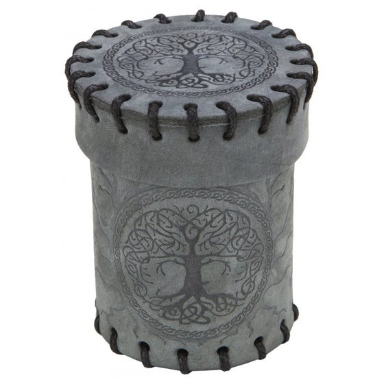 Grey Forest Graphite Suede Dice Cup