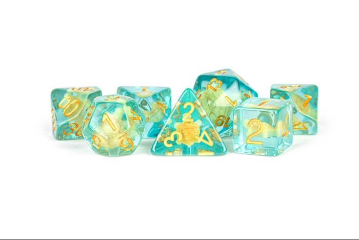 Turtle Resin Poly Tuqouise Transparent /Silver (7)
