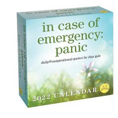 Unspirational 2022 Day-to-Day Calendar: in case of emergency: panic