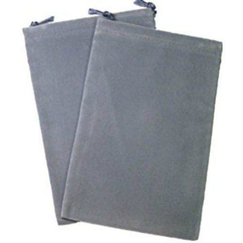 Grey Velour Dice Pouch (small)