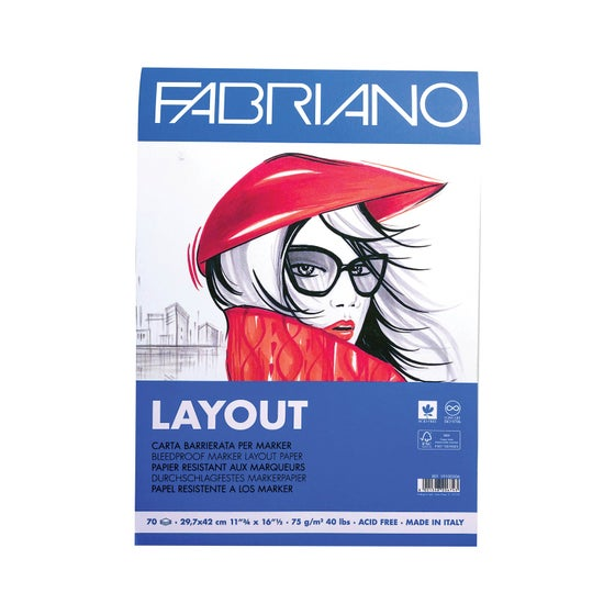 Layout Bleedroof Paper A3 75g (70 Ark)