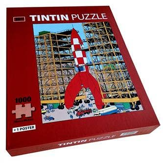 Moon Rocket Puzzle whit Poster (1000)