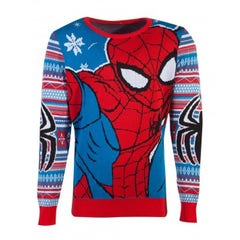 Spider-Man Christmas Knitted Jumper (L)