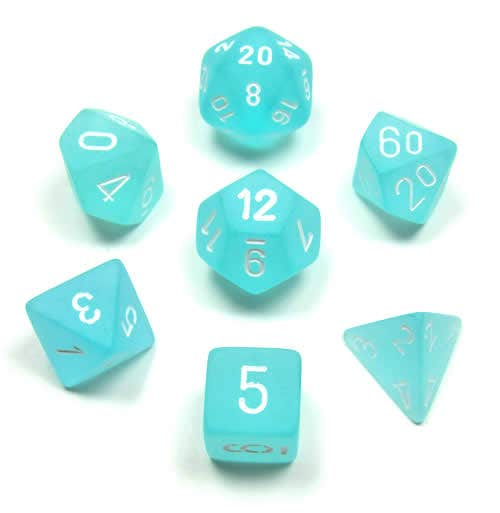 Frosted Poly Teal /White (7)