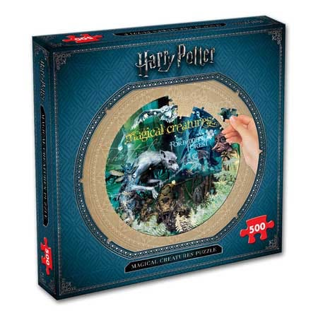 Magical Creatures Collector's Round Puzzle (500)