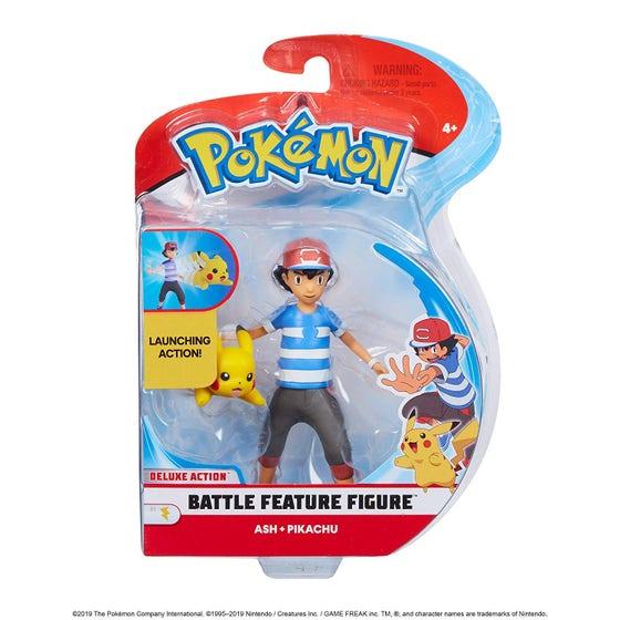Ash+Pikachu Battle Feature Action Figures