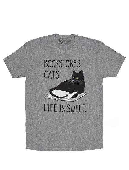Bookstore Cats T-Shirt (XS)