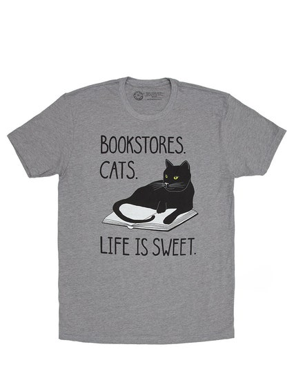 Bookstore Cats T-Shirt (S)