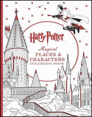 Harry Potter Magical Places & Characters Coloring Book: Official Coloring Book, the