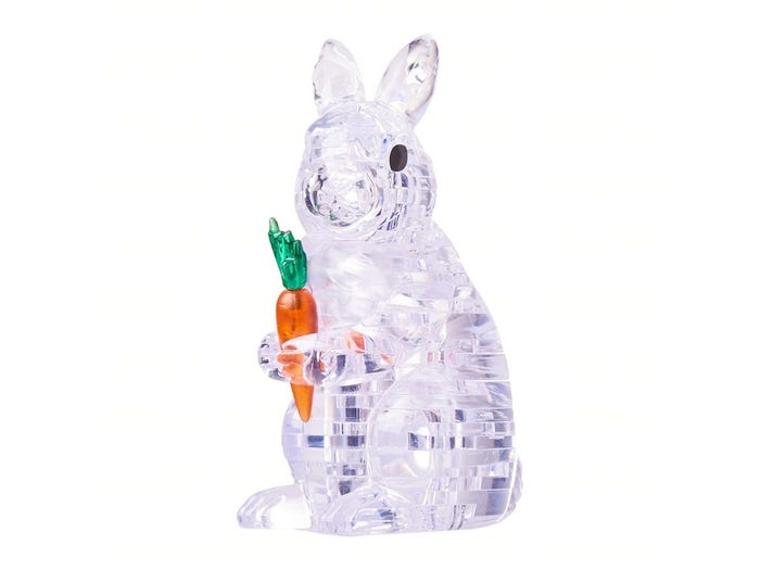 Rabbit Clear 3D Crystal Puzzle
