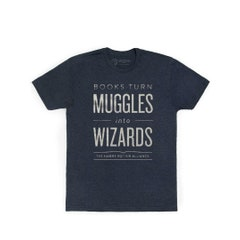 Books Turn Muggles Into Wizards T-Shirt (S)