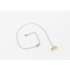 BTS Style Gold Logo Necklace