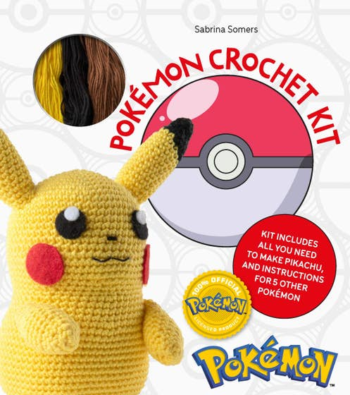 Pokemon Crochet Kit: Kit includes everything you need to make Pikachu and instructions for 5 other Pokemon