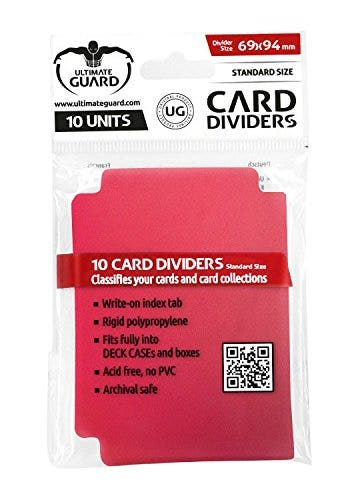 Standard Card Red Dividers (10)