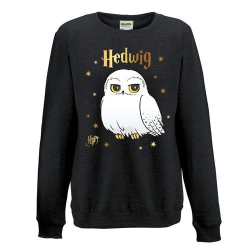 Foil Hedwig Stars Black Sweatshirt (XL)