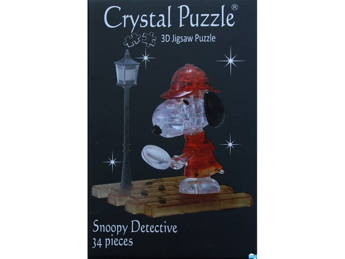 Snoopy Detective 3D Crystal Puzzle